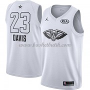 New Orleans Pelicans Anthony Davis 23# Vit 2018 All Star Game NBA Basketlinne..